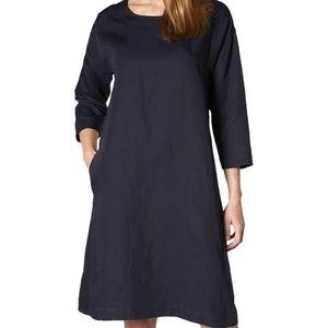 New L.K. Bennett Dr Lau Linen Blend Dress Blue